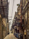 Ratten-Satz-Gasse - Hintergasse Chinatown Stockbild