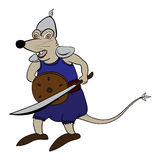 Ratten-Soldat Cartoon Lizenzfreies Stockfoto