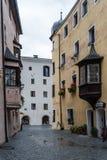 Rattenberg一个小镇在提洛尔 免版税库存图片