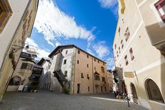 View of buildings, street area of medieval town of Rattenberg, A. RATTENBERG, AUSTRIA - SEPTEMBER 2017 : View of buildings, street area of medieval town of Stock Photos