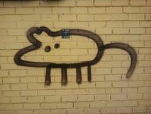 Rattengraffiti auf der Wand lizenzfreies stockfoto