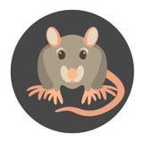 Rattenkarikaturvektor-Illustrationsart flach Stockbilder
