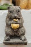 Rattenmonument voor rattenjaar Stock Fotografie