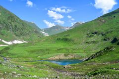 Ratti Gali Lake Camp Site Kashmir Pakistan!. Beautiful Landscape of Ratti Gali Lake Camp Site Kashmir Pakistan stock photos