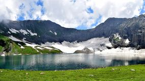 Ratti Gali Lake Kashmir Pakistan!. The Ratti Gali Lake is an alpine glacial lake which is located in Neelum Valley, Azad Kashmir, Pakistan at an altitude of 12 stock photo