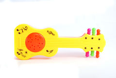 Rattle. Children\'s rattle from plastic on a white background Royalty Free Stock Image