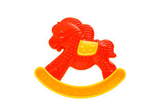 Rattle. Child's toy in the form of horses Royalty Free Stock Images