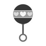 Rattle baby toy icon image Stock Photos