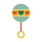 Rattle baby toy icon image Stock Photo