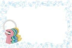 rattle för kantblöjastift arkivbild