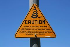 Rattle snake sign Royalty Free Stock Images