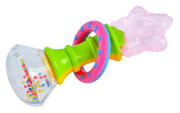 Rattle teether Stock Photo
