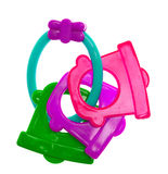 Rattle toy. Isolated on the white Royalty Free Stock Image