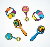 Rattle. Vector drawing royalty free illustration