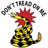 Dont Tread on Me Snake Stock Image