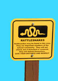 Rattlesnake warning sign Royalty Free Stock Images