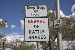 Rattlesnake Warning Sign Royalty Free Stock Photography