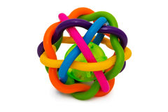 Rattletrap. Multi-colored rattle for the development and teething Stock Image