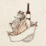 Ratto del vino Fotografie Stock Libere da Diritti