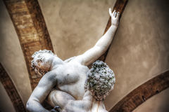 Ratto delle Sabine statue in Loggia de Lanzi in Florence Royalty Free Stock Photo