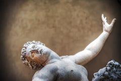 Ratto delle Sabine statue in Loggia de Lanzi in Florence Stock Photography