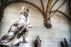 Ratto di Polissena statue in Florence Royalty Free Stock Image