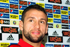 Ratto di Razvan, calciatore rumeno Fotografie Stock