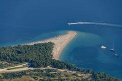 Ratto di Zlatni, Bol, isola di Brac, Croazia, Dalmazia Immagini Stock Libere da Diritti