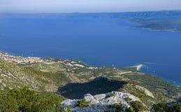 Ratto di Zlatni, Bol, isola di Brac, Croazia, Dalmazia Fotografia Stock