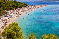 Ratto di Zlatni della spiaggia in Bol, Croazia Fotografia Stock Libera da Diritti