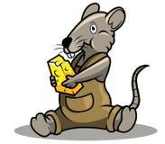 Ratto e formaggio illustrazione vettoriale