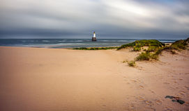 Rattray Head Lighthouse in Scotland Stock Image