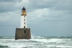 Rattray Head Lighthouse, Scotland. Rattray Head Lighthouse, an example of a famous Stevenson lighthouse, Scotland Royalty Free Stock Images