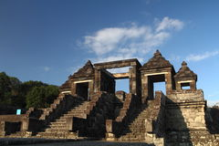 Ratu Boko Ancient Ruins. Entry Gate on Ratu Boko Castle, ancient ruins Royalty Free Stock Images
