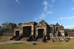 Ratu Boko Ancient Ruins. Entry Gate on Ratu Boko Castle, ancient ruins Royalty Free Stock Photography
