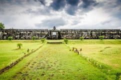 Ratu Boko slott royaltyfria bilder