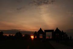 RatuBoko en puesta del sol Imagen de archivo