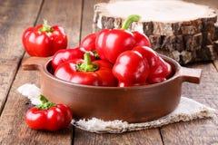 Ratunda del pepe gogoshar Il pomodoro ha modellato il peper dolce immagini stock libere da diritti