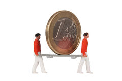 Ratunek euro Zdjęcia Stock