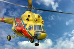ratunek helikoptera Zdjęcie Stock