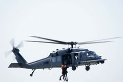 ratunek helikoptera morza Obraz Stock