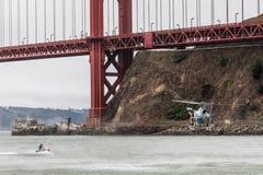 Ratunek pod Golden Gate Bridge Obraz Royalty Free