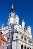 ratusz för 3 poznan arkivbilder