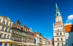 Town Hall on the Old Market Square in Poznan, Poland stock images
