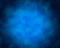 Rauch über blauem Hintergrund Stockfoto