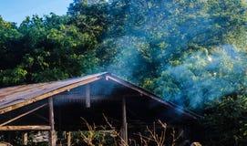 Rauch am Abend Lizenzfreies Stockbild
