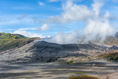 Rauch auf Berg Bromo Stockbild