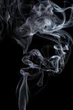 Rauch auf Schwarzem stockfotografie