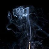 Rauch auf Schwarzem Stockfotos
