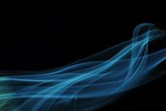Rauch auf schwarzem Hintergrund Stockfotos